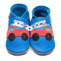 CHAUSSONS - ECO BOX - FIRETRUCK BLUE/RED - 18/24 MOIS