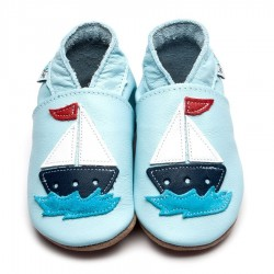 CHAUSSONS - ECO BOX - SAIL BOAT BABY BLUE - 6/12 MOIS