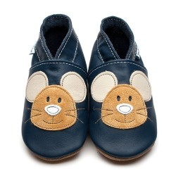 CHAUSSONS- ECO BOX - SQUEAK NAVY - 0/6 MOIS