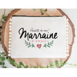 POCHETTE POMPOM - MARRAINE D'AMOUR