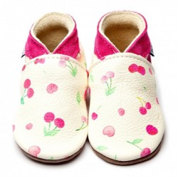 CHAUSSONS - ECO BOX - CHERRIES PINK - 2/3 ANS