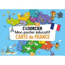MON POSTER EDUCATIF C'EST PAS SORCIER - CARTE DE FRANCE